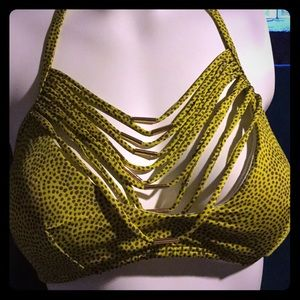 Victoria Secret Medium Bikini Spotted Chartreuse